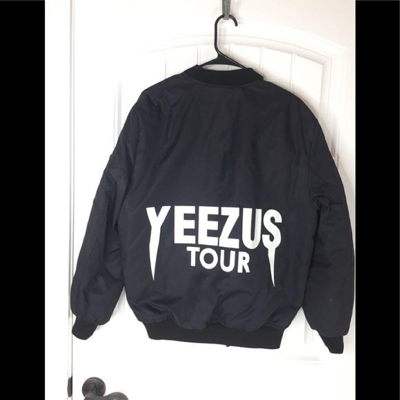 Kanye West yeezus tour bomber jacket Pablo merch